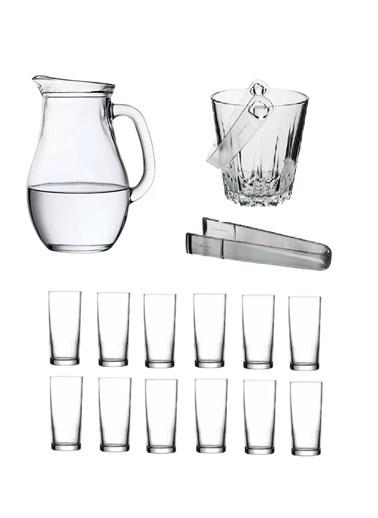 Paşabahçe Rakı Bardak Ve 15 Prç. Rakı Bardağı Ve Buz Kovası Seti Renksiz